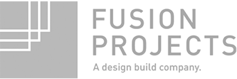 fusion projects company grey logo